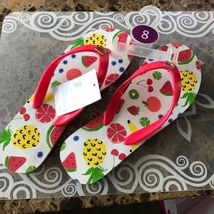kate spade Summer Fruity Flip Flops ❤️❤️🌈☀️