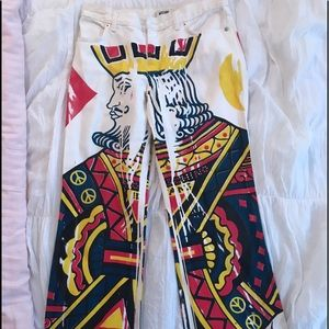 Hand painted Moschino jeans