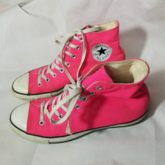 Converse Other - Old Hot Pink High Top Converse Mens Size 9 8f7413808