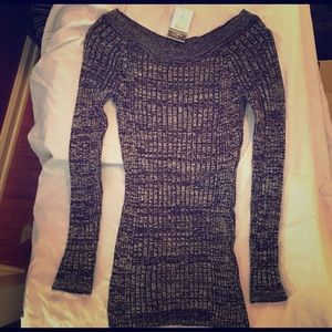 NWT Rue21 grey/black sweater.