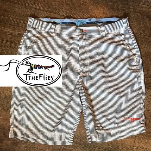f2fd81c7c4 True Flies Fishing Manasota Seersucker Shorts 40. M_595594bb99086a318e00d3e6