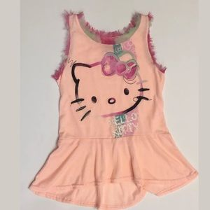 Girls Hello Kitty High Low Top Tunic, Size Medium