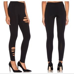 "David Lerner ""destroyed"" leggings, black, NWOT, M"