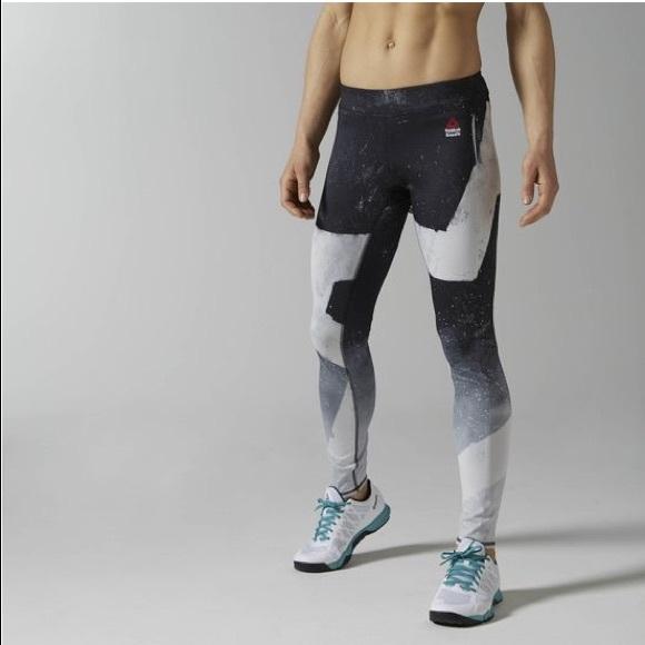 Reebok CrossFit Reversible Chalk Chase Legging NWT