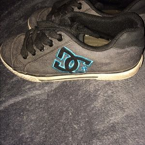 D.C. Gray and teal shoes size 6