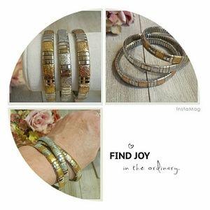 Jewelry - Set of Three Metalic Stretch Bracelets