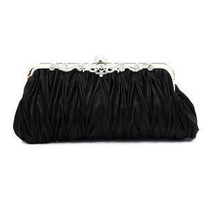 Handbags - Black evening clutch