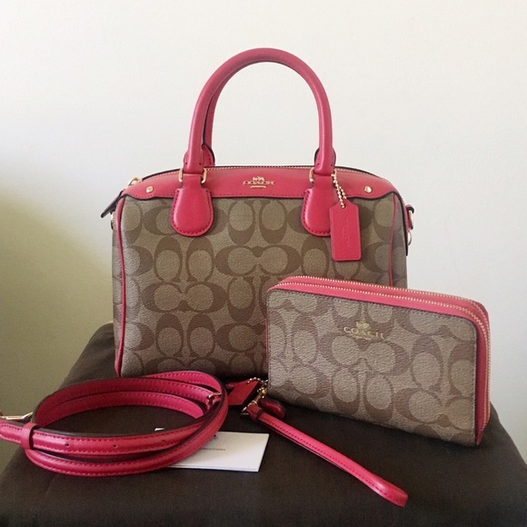 98b7d02f87 Coach Handbags - 🌸Sold🌸Coach Bennett Satchel  Double Zip Wristlet