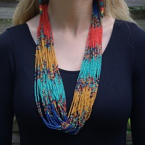 Jewelry - Multi-Colored Wooden Bead Necklace