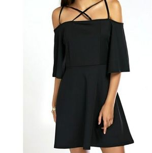 Dresses & Skirts - Black Strappy Off the Shoulder Dress