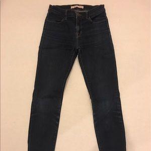 J Brand Midrise Super Skinny Starless Jeans