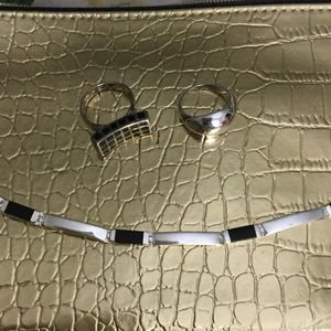 Jewelry - Sterling bracelet and ring, 7