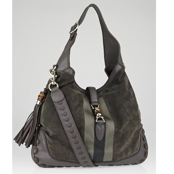Gucci Bags   Large Jackie In Grey Suede Hobo   Poshmark ba531eadbe