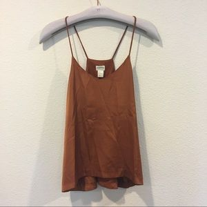 H&M conscious collection orange ranger back tank