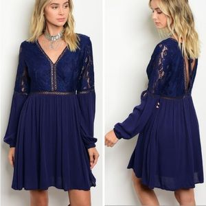 🎉Just Arrived 🎉Navy Lace Cut Out Dress