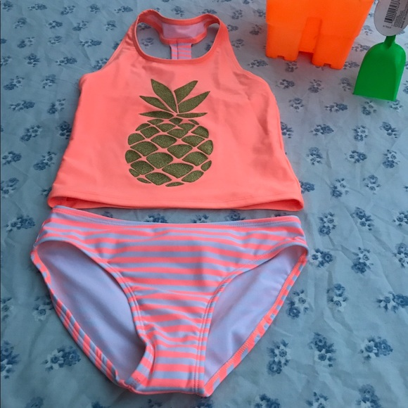 1750a7ec5 Cat & Jack Swim | Cat Jack Striped Pineapple 2 Pc Suit M 78 | Poshmark