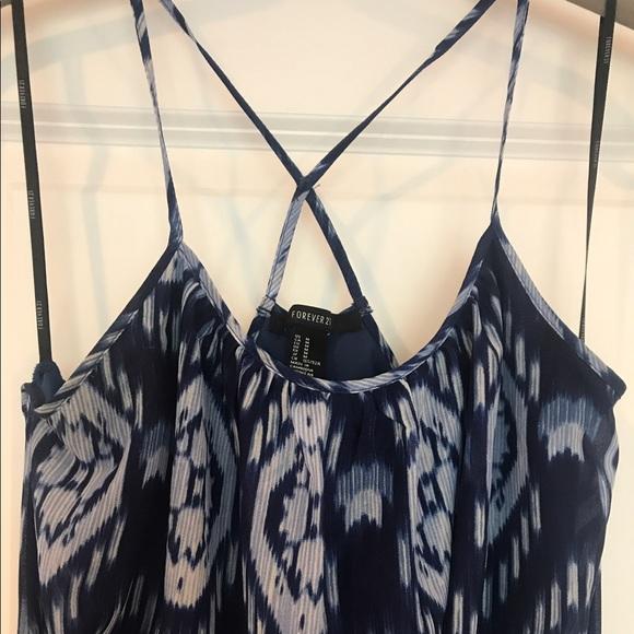 58 off forever 21 dresses amp skirts blue aztec hi lo