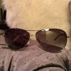 4fddd4acbc076 Coach Accessories - COACH Silver Aviator Sunglasses (L911 Juliana)