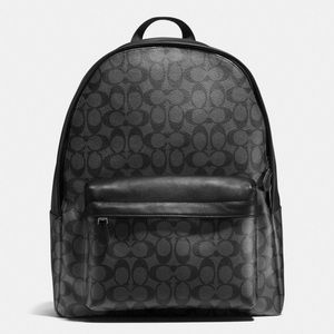 COACH CHARLES BACKPACK IN SIGNATURE CHARCOAL/BLACK