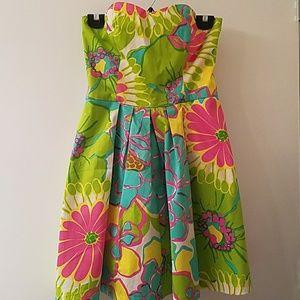 Host Pick  Laroque colorful strapless dress