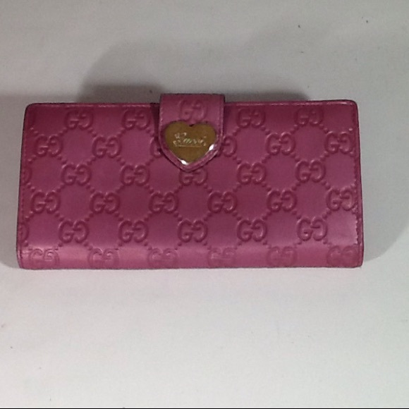 53f05cc2c3c Gucci Accessories - Authentic Gucci GG Monogram Pink Leather Wallet.