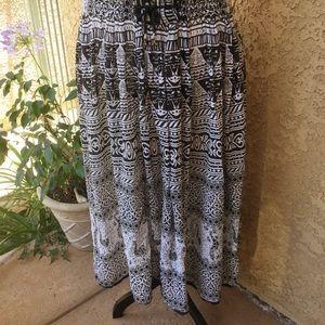 "Vintage 1X 2X 3X gauze maxi skirt ""free size"" boho"