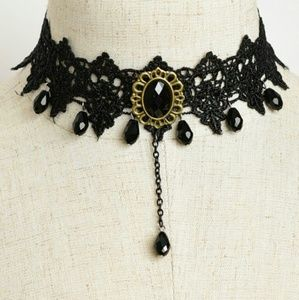 New Gothic Black Choker Necklace