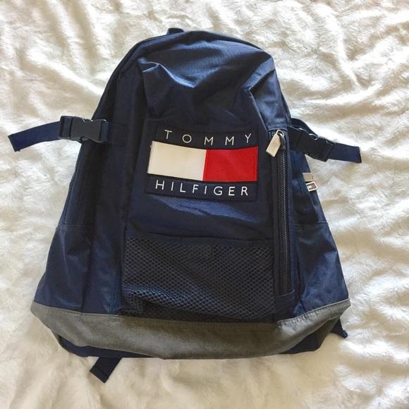 203b633ef4d4 Vintage Tommy Hilfiger 90s Backpack. M 5955f224291a355076025a22