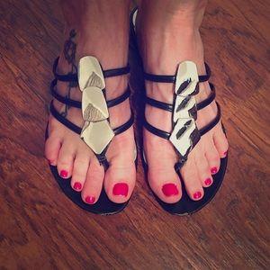 Shoes - Black sandals Size 7