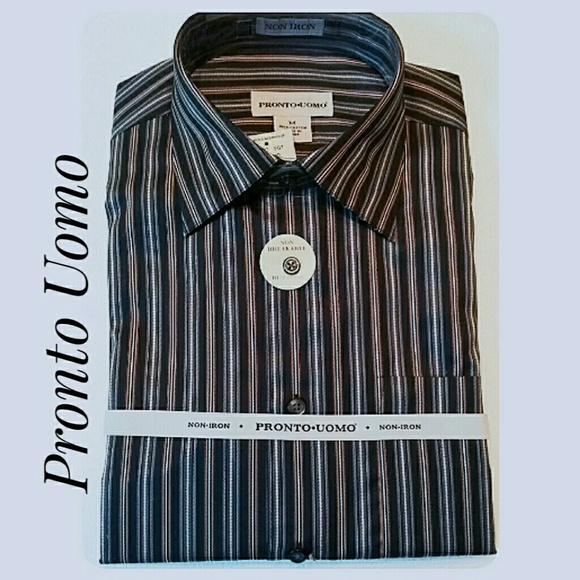 Pronto Uomo Other - Men's NWT'S Pronto Uomo Long-Sleeve Shirt Size Med