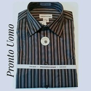 Men's NWT'S Pronto Uomo Long-Sleeve Shirt Size Med