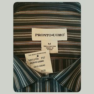 Pronto Uomo Shirts - Men's NWT'S Pronto Uomo Long-Sleeve Shirt Size Med