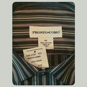 Pronto Uomo Shirts - Men's NWT'S Pronto Uomo Long-Sleeve Shirt Size Med