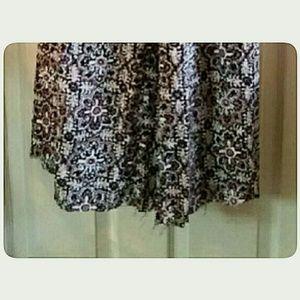 Xhilaration Pants - Plus-Size  Women's Palazzo Pants Brown White XXL