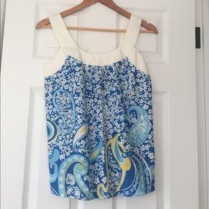 FINAL PRICE‼️NWOT LillyP blue/white sleeveless top