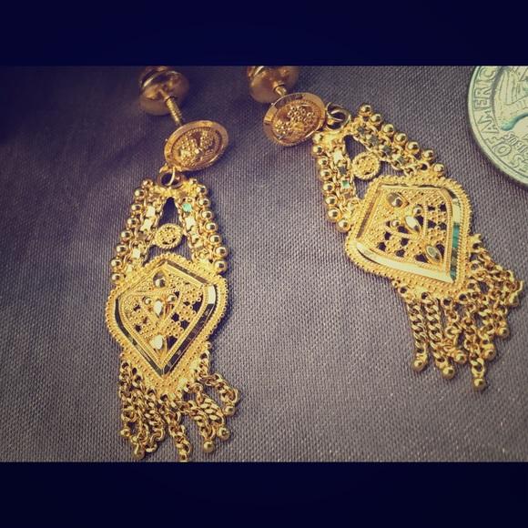 Jewelry 22 Carat Gold Earrings Poshmark