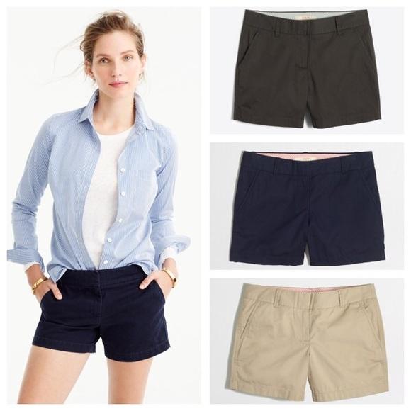 J.Crew Mercantile Womens 5 Chino Short Casual Shorts