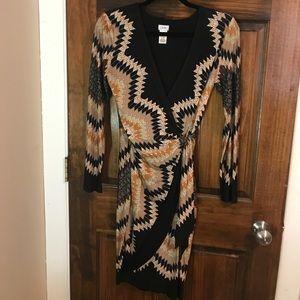 CACHE PRINTED WRAP DRESS