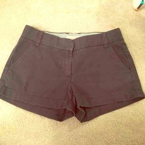 J Crew Broken In Chino Shorts Size 4 Blue Gray