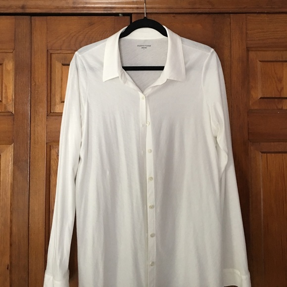75 off eileen fisher tops eileen fisher organic cotton for Organic cotton button down shirts