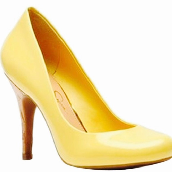 86% off Jessica Simpson Shoes - Jessica Simpson Oscar Lemon Yellow ...