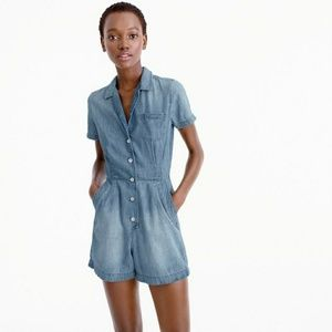 MORE RDUCED NWT J. Crew chambray romper