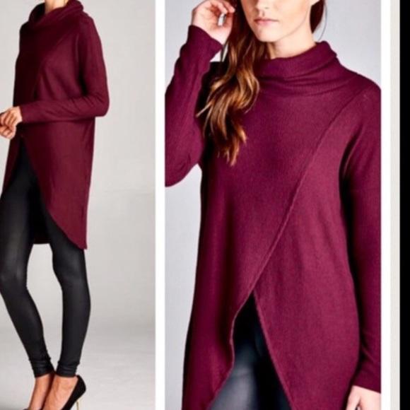 95% off Boho Loco Fashion Boutique Sweaters - ❗️Burgundy Wrap ...