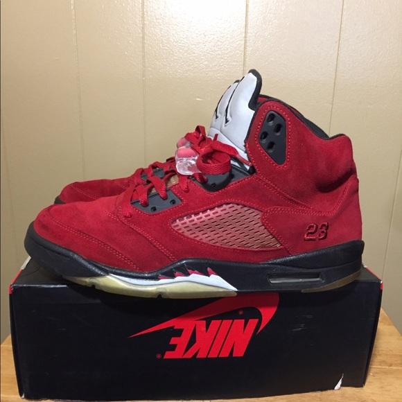 da737da3433e9 Jordan Shoes | Air 5 Retro Raging Bull Red Suede | Poshmark