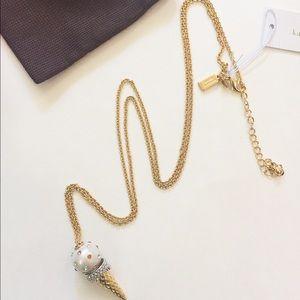 🎉Sale🎉NWT Kate Spade ice cream cone necklace