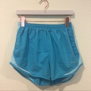 Nike blue dry fit tempo workout shorts