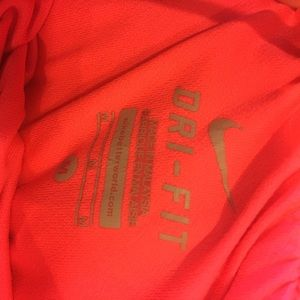 Nike Shorts - Nike pink and green dry fit tempos workout shorts
