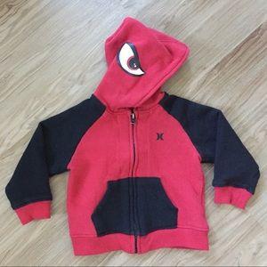Hurley 'Fear Me' Hoodie Zip Up Sweatshirt 18 MO