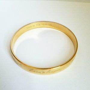 "Kate spade ""this is the year to"" bangle"