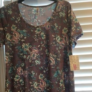 medium purple floral lularoe classic t